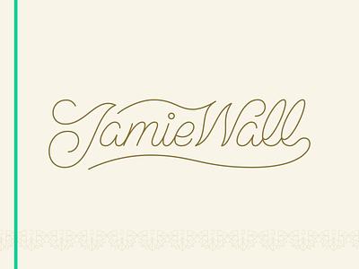 Jamie Wall Script script logotype icon typography vector logo lettering flat illustration 2d design branding