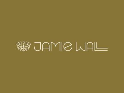Jamie Wall Logo monogram art deco lettering art type icon typography vector logo lettering flat illustration 2d design branding