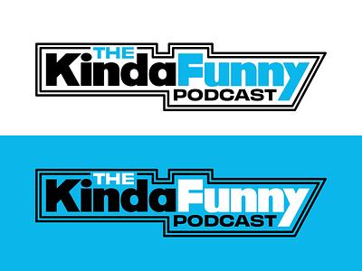 Kinda Funny Podcast podcast youtube entertainment games video funny kinda logotype clean art typography vector icon logo flat lettering 2d illustration design branding