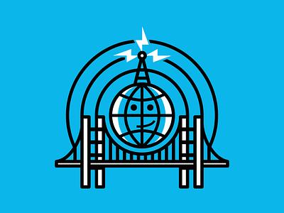 Kinda Funny Podcast Icon audio podcast broadcast radio type minimal abstract logotype clean art typography vector icon logo lettering flat 2d illustration design branding