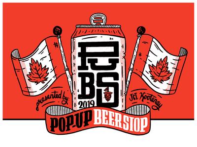 Pop Up Beer Stop drink beer branding beer art beer can beer graphic art poster bright type abstract typography vector logo lettering flat illustration 2d design branding