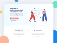 Opensource for all initiative webdesign flat ui ux illustration webflow website landingpage stack blitz minority opensource
