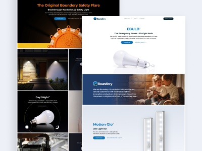 Boundery marketing web clean flat ui ux design figma webflow product page product promo e-comerce