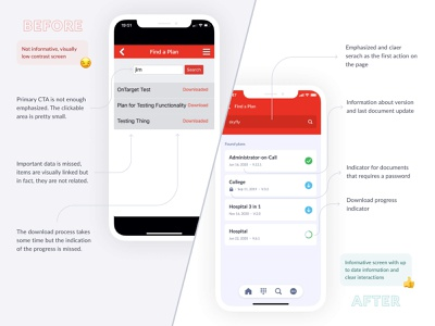 My EOP app redesign emergency document documents mobile ux mobile design mobile app mobile ui mobile clean design ui flat ux figma before after comparison