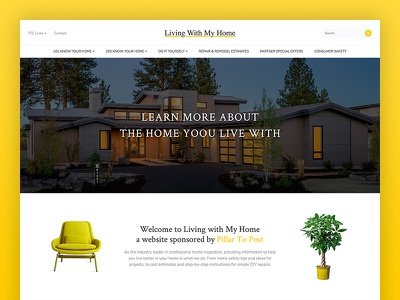 Living With My Home real estate contest orange landing apartment home house modern architecture blog mortgage