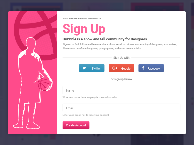 99ui#4 Sign-Up Form responsive flat web dribbble sign up form animations interaction ux ui webflow free