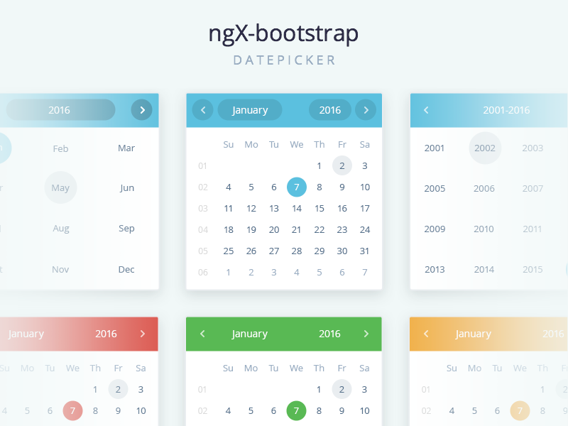 ngx-datepicker by Mikhail Voloshin ⚡ for Valor Software on Dribbble