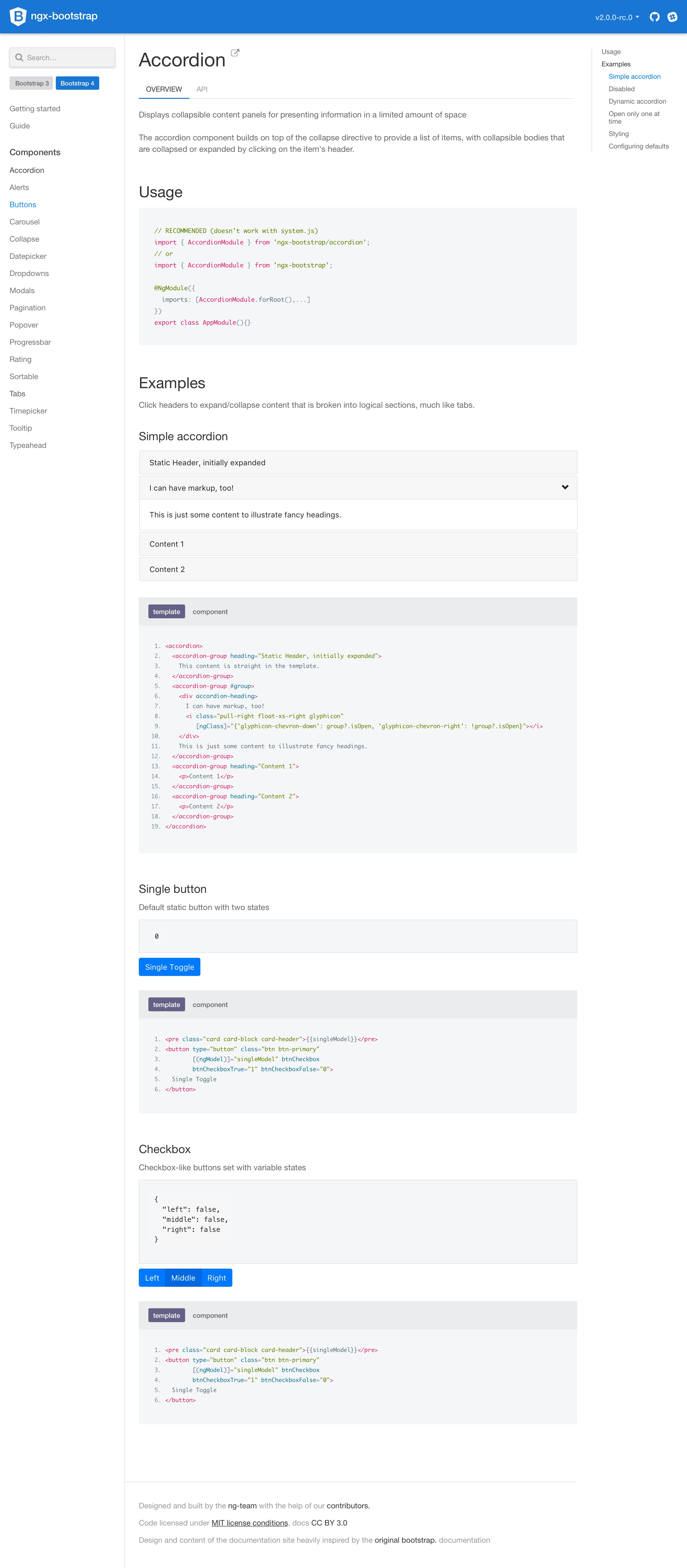 Ngx bootstrap overview
