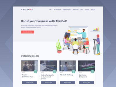 ThisDot - Home Page re-design