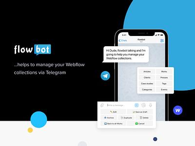 flowbot saas landing page saas web ux ui messenger webflow telegram bot
