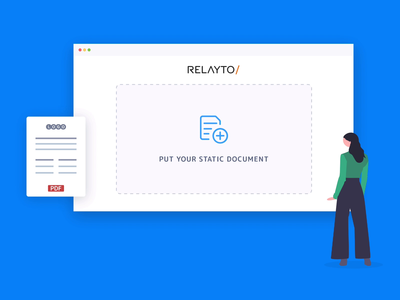 Relayto hero animation hero aftereffects presentation design motion design motion animation design documents vector flat lottie interactive pdf webflow saas animation