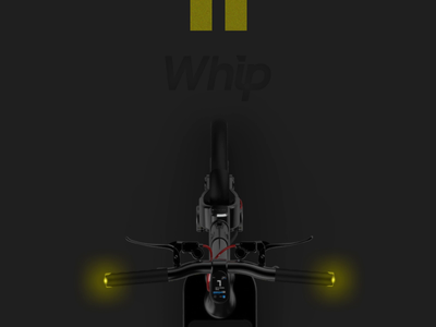 Whip 3d model 3d clean interaction animation ui product dark webflow bike scooter