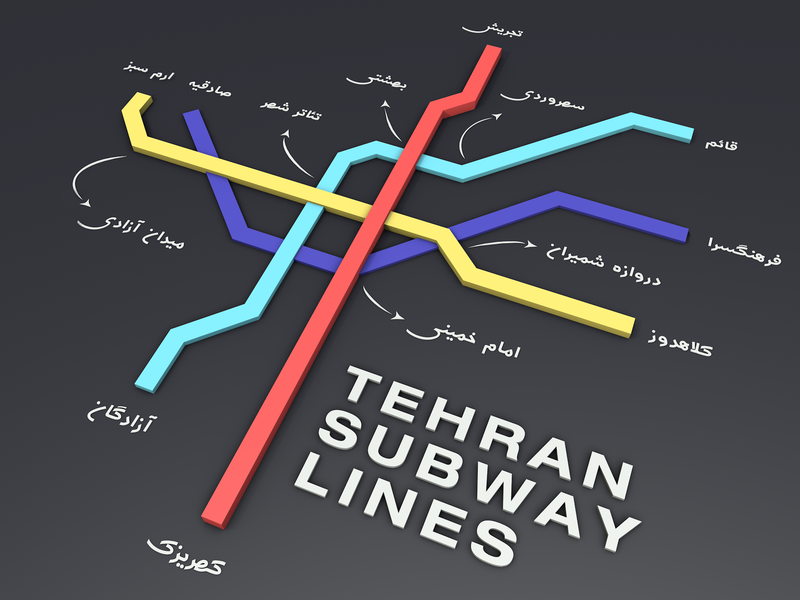 Tehran Subway Map.Tehran Subway Map By Mahan Ghazanfari On Dribbble