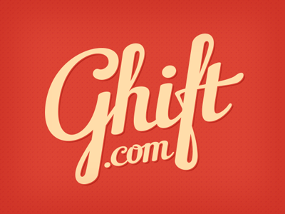 Ghift lettering logo typography calligraphy type brush branding typeface
