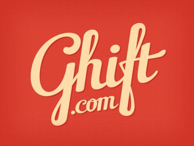 Ghift lettering logo typography calligraphy type brush branding typeface
