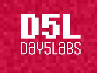 Day5labs logo branding typography type typeface pixel 8bit