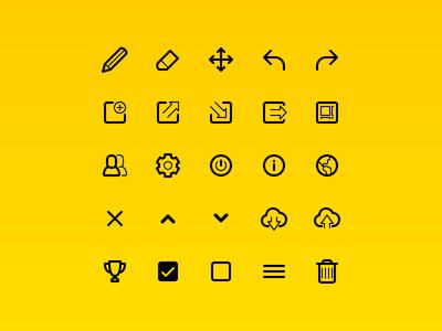 Line icons icon set mobile ui line icons