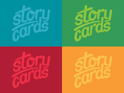 StoryCards logo branding script lettering logotype logo storycards