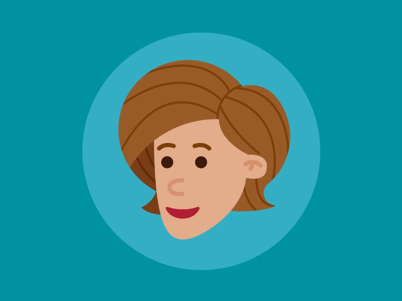 Avatar illustration woman face avatar