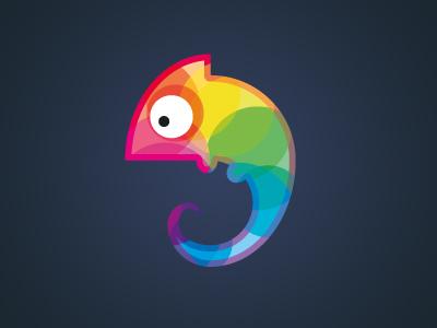 Chameleon chameleon colorful logo design animal