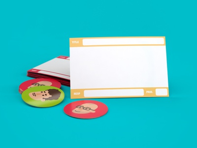 StoryCards product shot magnet avatars storycards product design illustration