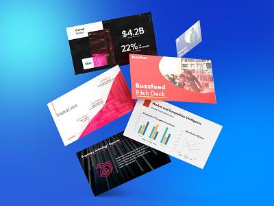 Pitch Deck - Render investor pitch investor deck branding website slide powerpoint presentation powerpoint startup mockup 3d ppt infographic airbnb uber floating cards render presentation pitch deck