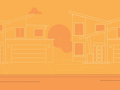 Condominios Costa Rica - Explainer costa rica transition neighborhood behance explainer video real estate city gif loop after affects vector motion graphics animation zoom illustration 2d
