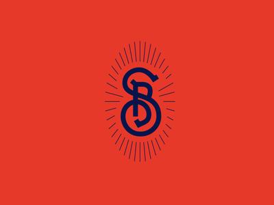 Monogram monogram logo typography symbol mark letter sb bs logotype logo