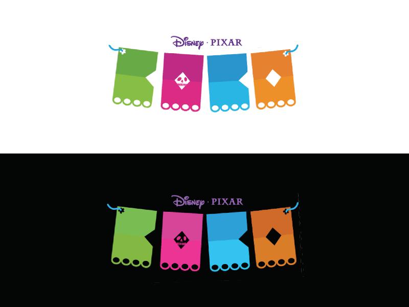 Papel Picado movie papel picado paper geometric logo dia de los muertos disney coco