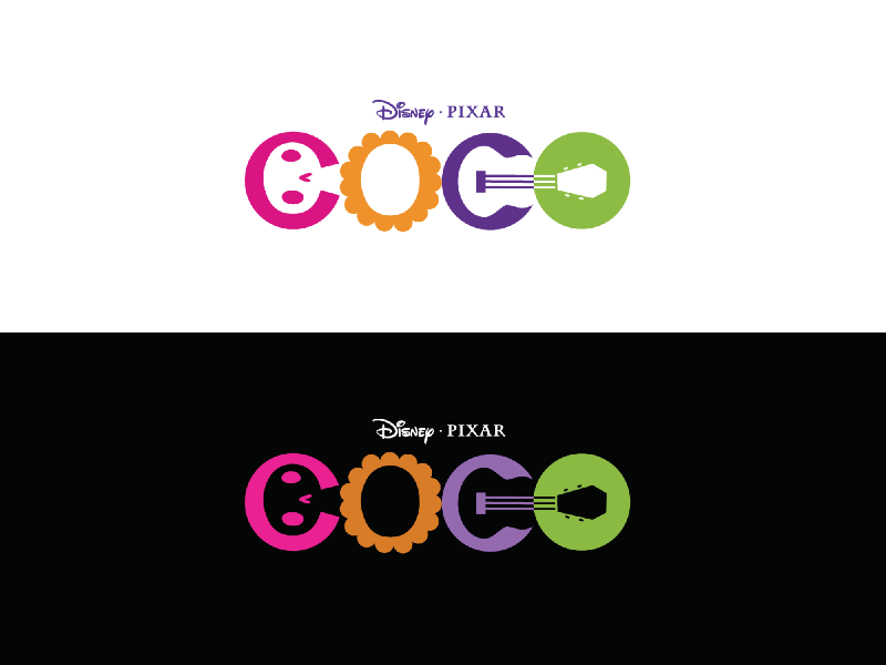 Another Logo Exploration Clients And Personal Favorite For The Movie Coco I Designed While Working In My Former Agency Tippit Moo Disney Reached