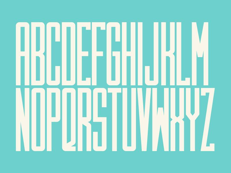 Monocondo Type - Condensed Monospace Font by Dave Boyce on