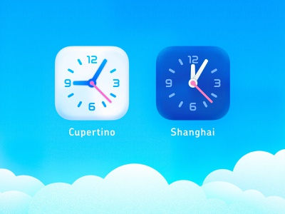 New Theme for Clock Mini - Calm world clock timer calm clear day cloud blue sky dock clock clock mini