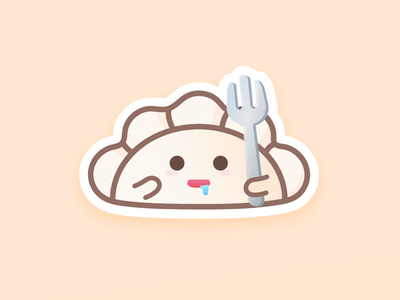 🤤 stickers imessage dumplings icon vector design illustration