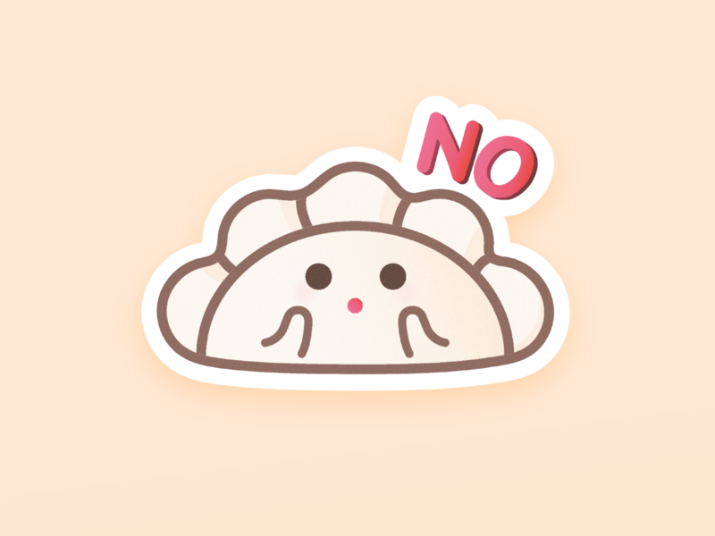 ❌ NO stickers imessage dumplings flat design vector illustration