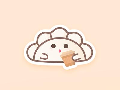 ☕️ Coffee stickers imessage dumplings icon design vector illustration