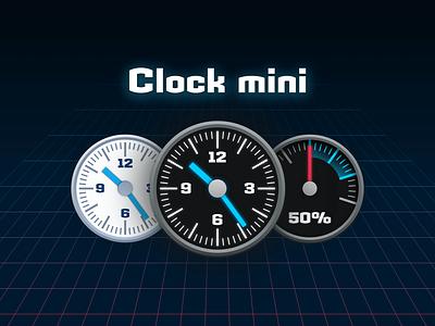 Clock mini 2.0 sports speed dashboard timer mac clock icon vector design illustration