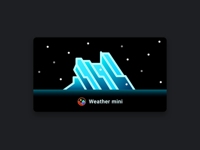 Weather mini - snow app apple watch illustration snow watchos weather nps national parks glacier