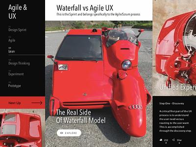 LOLs Waterfall vs Agile UX web design funky testingnewtools ux agile funny fun