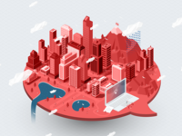 Isometric City for Prezi Presentation