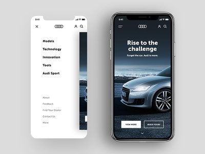 Audi mobile website website redesign audi