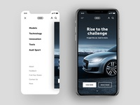 Audi mobile website website redesign audi
