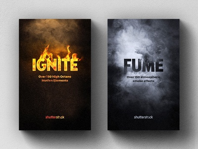Shutterstock Video Packs lettering layout product box typography