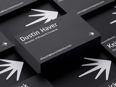 Launch Darkly Business Card logo graphic design branding