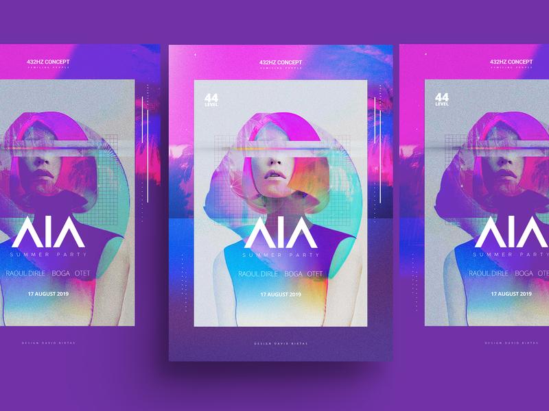 AIA Party Poster 432hz concept design concept posterart art poster art artwork poster design