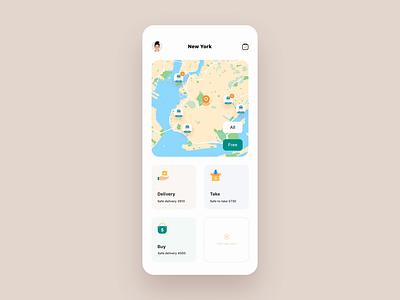 Timely helper App mobile transport helper map illustration clean demo principle animation design card ux app ui