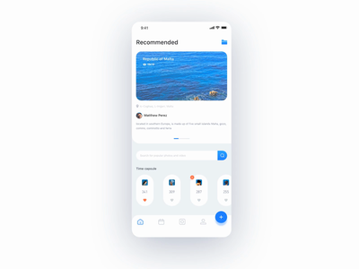 Photography sharing App Interaction