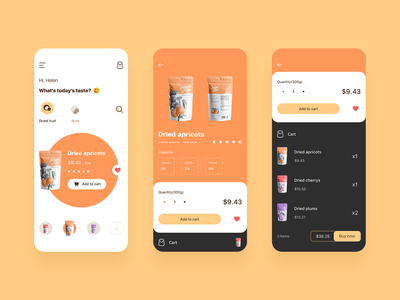 Snack-shopping App icon shopping app shopping minimal choice design card ux app ui clean add to cart