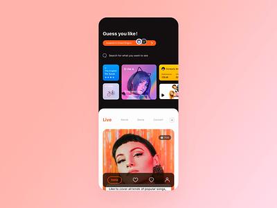 Social video App video app social network media live video icon principle animation design demo card gif ux app ui