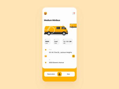Urban freight App mobile app move house freight mobile choice principle animation demo design gif card ux app ui
