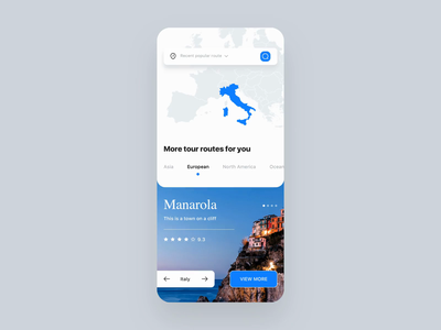 Travel guide App reading scroll guide travel clean principle animation demo design gif card ux app ui